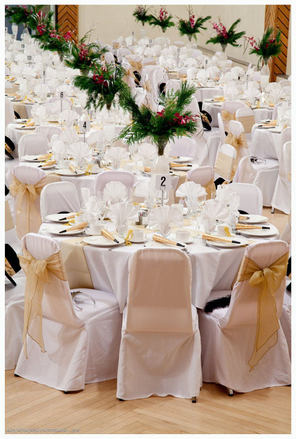 Chair covers can enhance any function with a touch of class.